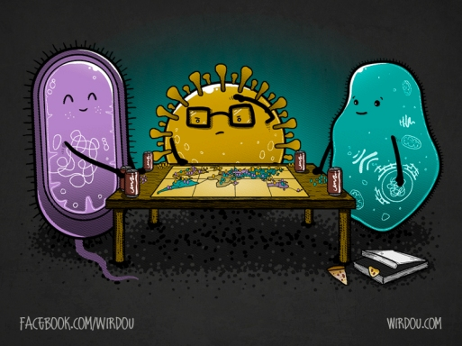 fun, funny, t-shirt, divertido, gracioso, camiseta, pandemic, pandemia, virus, bacteria, protozoa, RISK, tabletop game, juego de mesa, science, ciencia