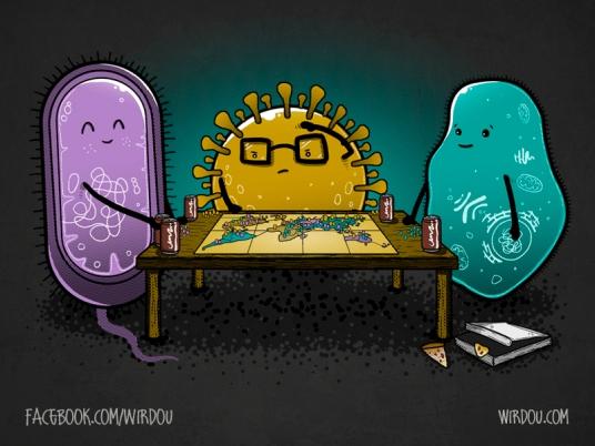 fun, funny, t-shirt, divertido, gracioso, camiseta, pandemic, pandemia, virus, bacteria, protozoa, RISK, tabletop game, juego de mesa, science, ciencia