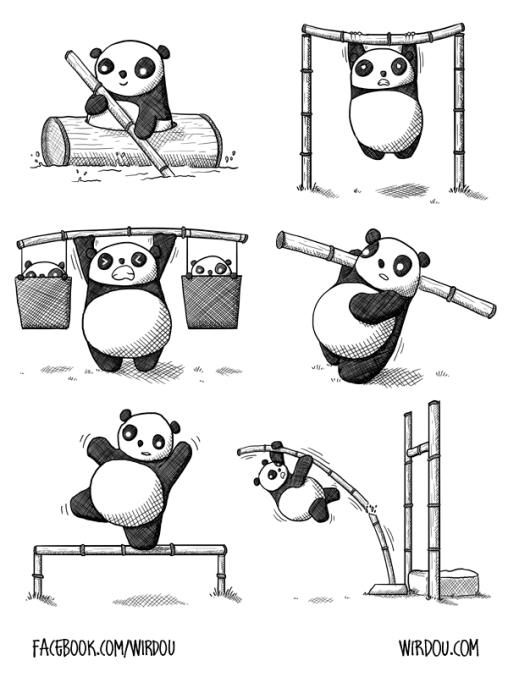 science, fun, funny, curious, desig, drawing, illustration, scientist, chemistry, biology, cute, panda, gracioso, divertido