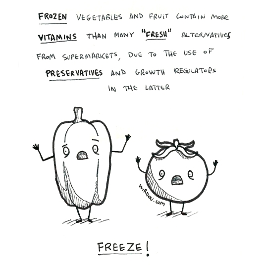 science, curious, curiosity, fun, funny, humor, vegetables, frozen, nutrition, fresh