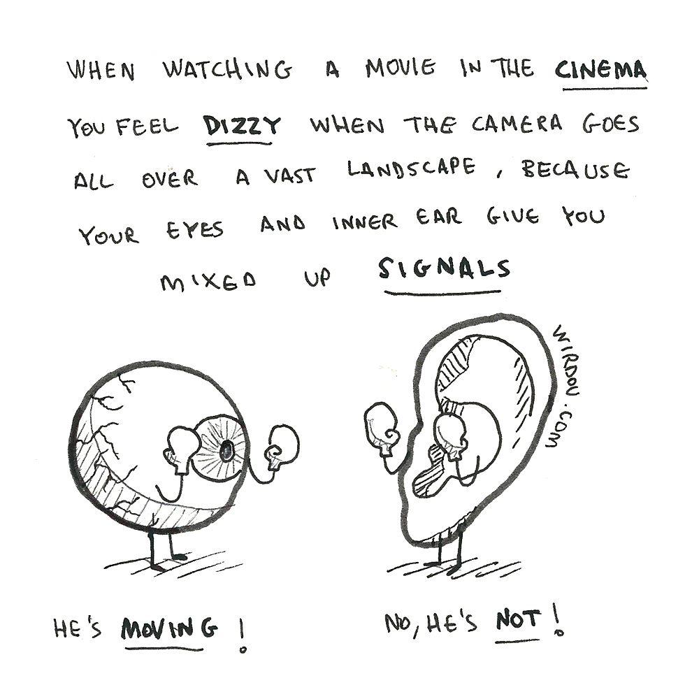 science, curious, curiosity, fun, funny, humor, dizzy, movie, cinema, ear, eye, sensory