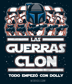 ciencia, humor, divertido, gracioso, clon, star wars, dolly, boba fett, oveja