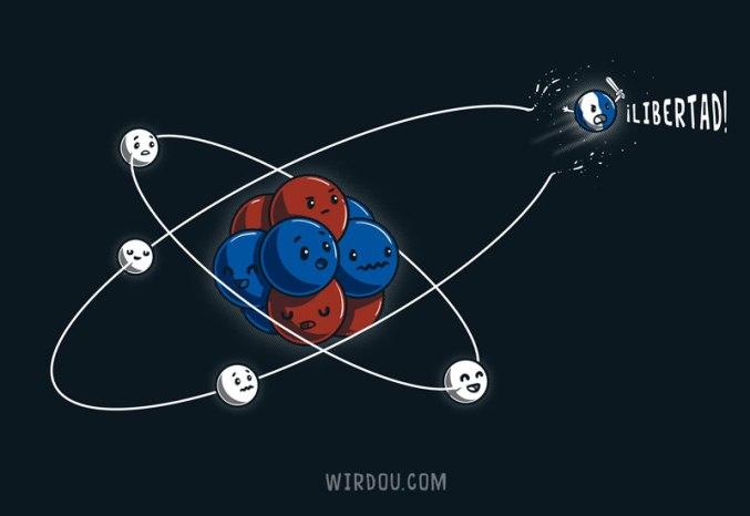 ciencia, humor, divertido, gracioso, átomo, electrón, órbita, braveheart, william wallace
