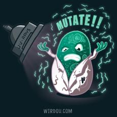 ciencia, humor, divertido, gracioso, célula, mutación, ADN, rayos uva, mutante, evolución