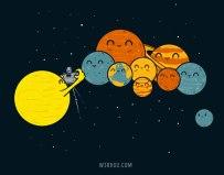 ciencia, divertido, gracioso, humor, science, fun, funny, planets, solar system, pluto, sun, astronomy, universe, planetas, plutón, sol, astronomía, universo