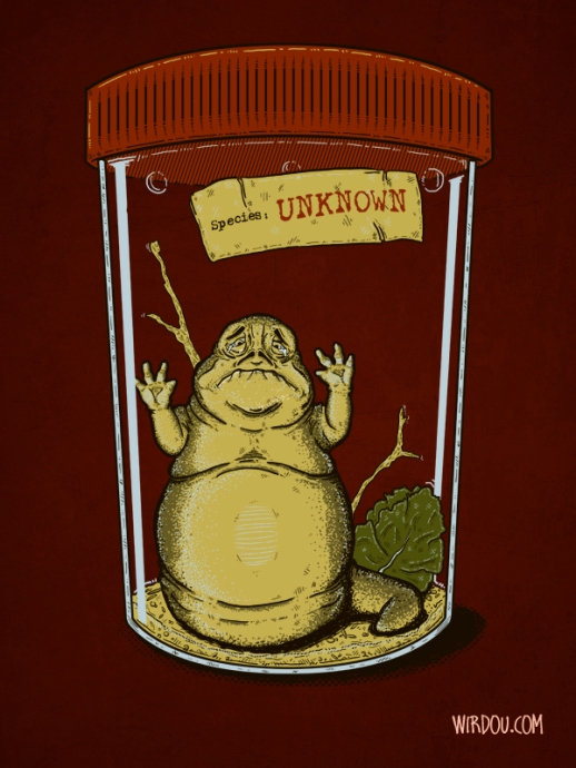 science, fun, funny, curious, desig, drawing, illustration, scientist, chemistry, biology, cute, star wars, jabba, insect, bug